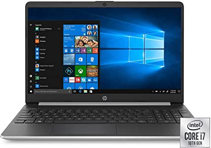 """HP 15.6"""" Full HD Laptop, Intel Core i7-1065G7 Processor, 8GB Memory, 256GB SSD, 2 Year Warranty Care Pack with Accidental Damage Protection, Windows 10 Home"""