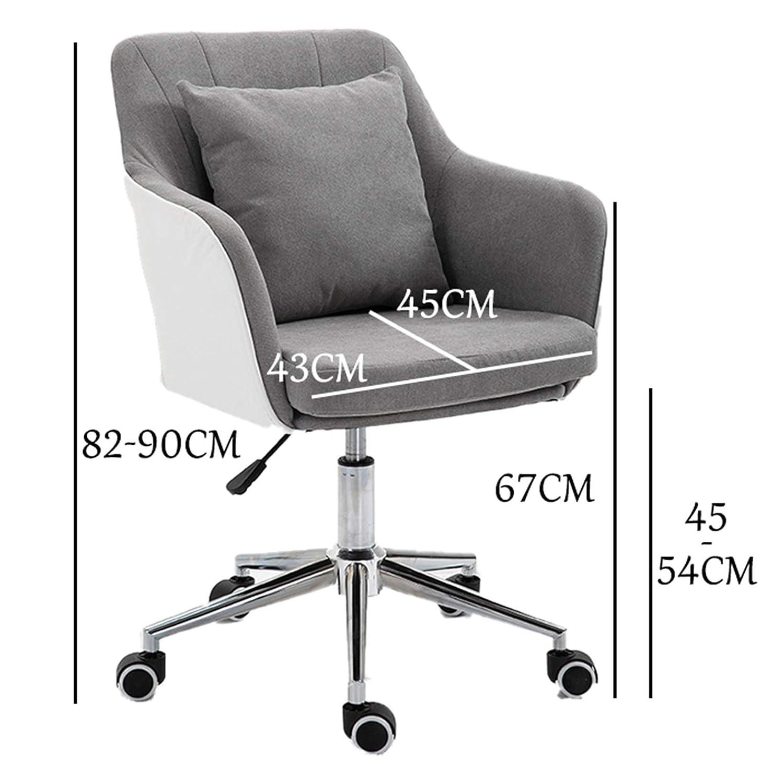 LYJBD rullande svängbar stol, ergonomisk datorstol med justerbar höjd, bekväm armlös skrivbordsstol för hem kvinnor, män konferenskontor Mörkblå