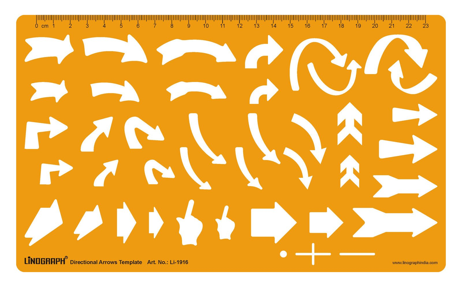 Linograph Drafting And Design Template Directional Arrows Technical Drawing Stencil