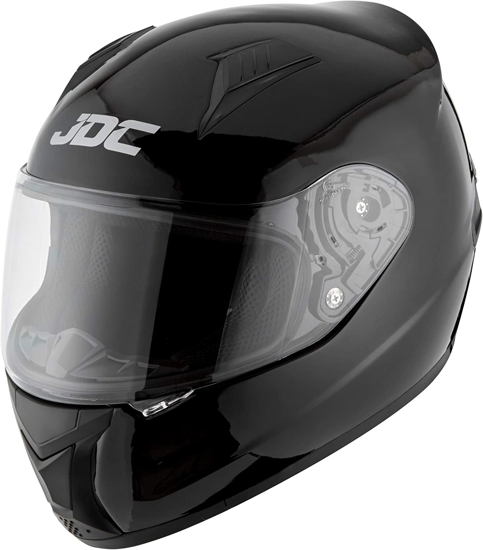 Jdc Volles Gesicht Motorrad Helm Prism Schwarz M Auto