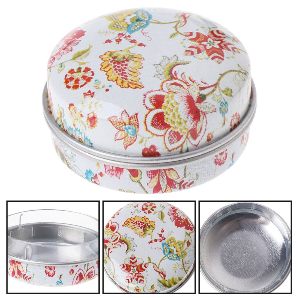 Milue Elegant Small Tinplate Storage Box Wedding Candy Box Gift Box Jewelry Container