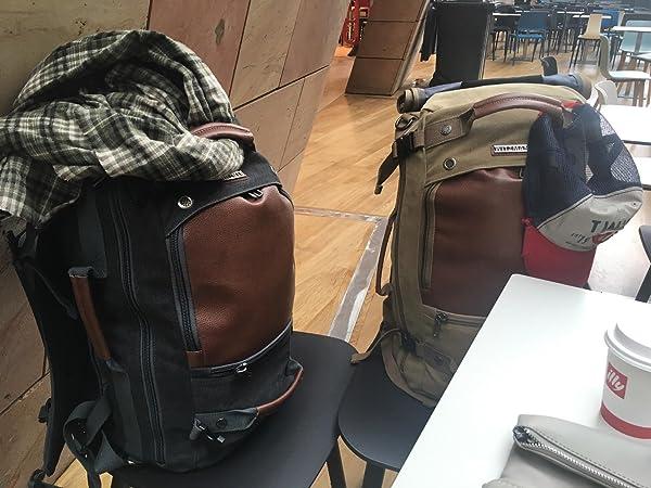 f9c283159f WITZMAN Men Travel Backpack Canvas Rucksack Vintage Duffel Bag A2021 ...