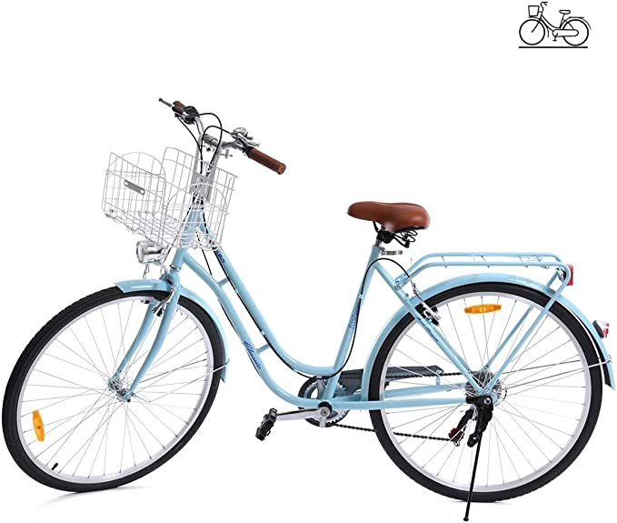 Paneltech 28 Pulgadas 7 Velocidad de Ciudad Bicicleta de Ciudad ...
