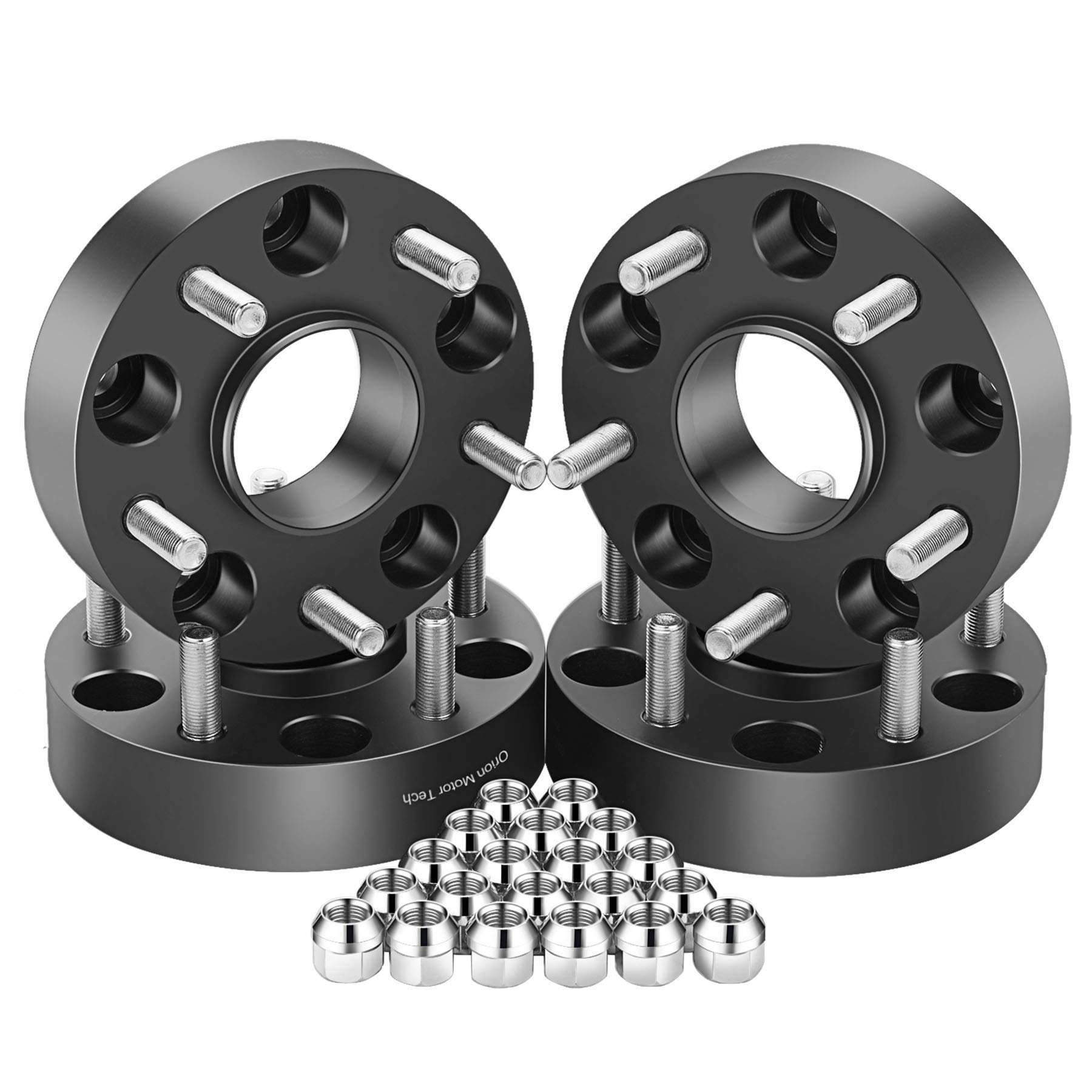 OrionMotorTech 5x5 Wheel Spacers 1.5 inches with 1/2-20 Studs for 007-2018 Jeep Wrangler JK, 1999-2010 Grand Cherokee WJ WK, 2006-2010 Commander XK, 4pcs by OrionMotorTech