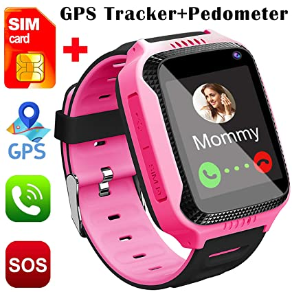 Smart Watch for Kids, [SIM Card Included]Smart Watches for Boys Girls Smartwatch GPS Tracker Watch Pedometer Fitness Tracker Wrist Android Mobile Cell ...