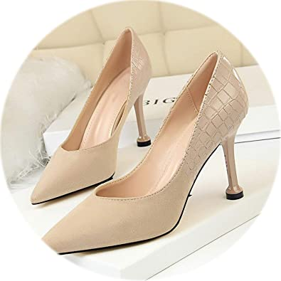 08a64bb7786 HANBINGPO New Women High Heel Shoes Women Pumps Pointed Sexy Kitten Heels  Pumps Women Shoes Fashion