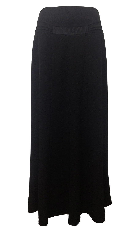 c51027c25844c Abielmo Lovely Ladies Full Length Long Maxi Panel Formal Black Skirt Size  10 12 14 16 18 20 22 24 Tall Women Clothing  Amazon.co.uk  Clothing
