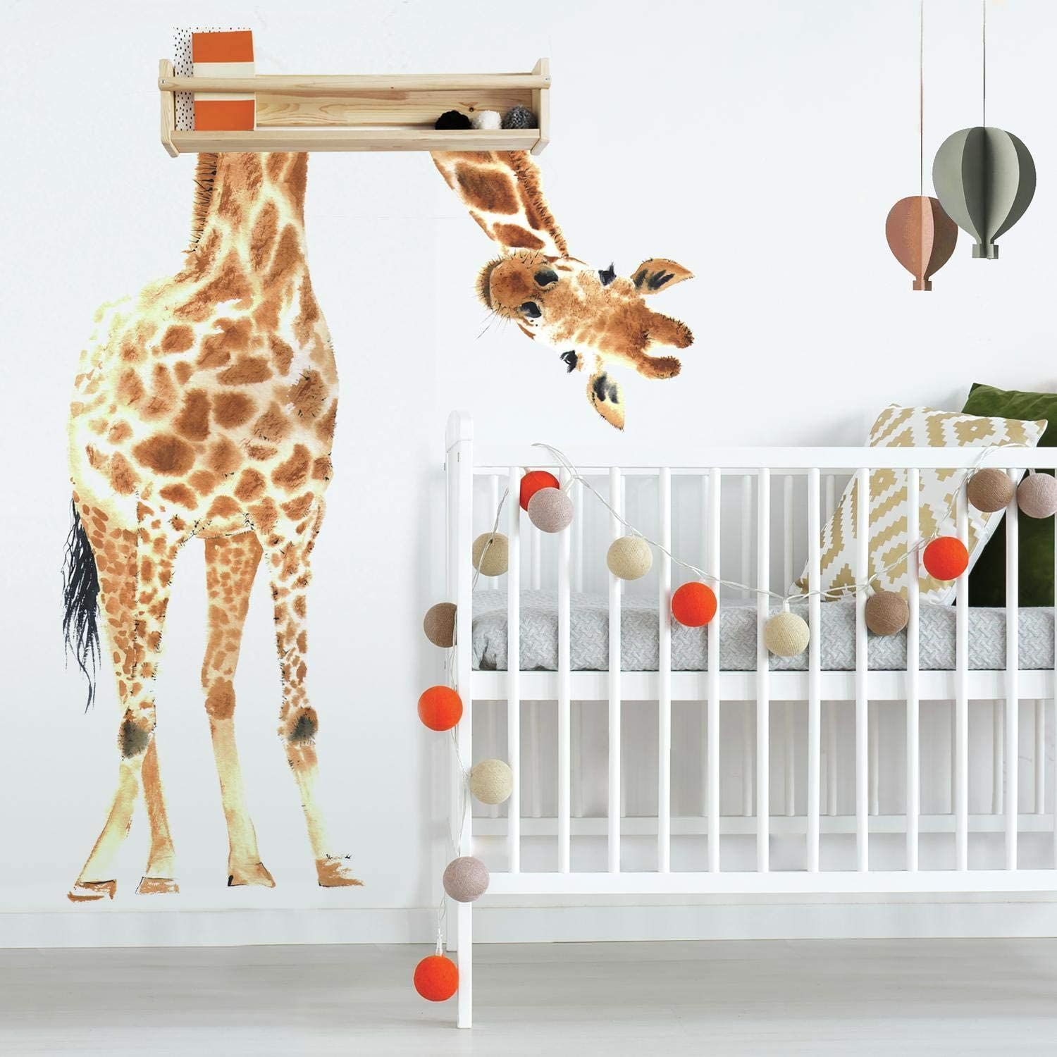 Roommates Rmk4026gm Giraffe Peel And Stick Giant Wall Decals Brown Green Black