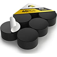 Grote magnetische stippen met zelfklevende achterkant - 40 stuks ronde zelfklevende magneten - grote flexibele kleverige…