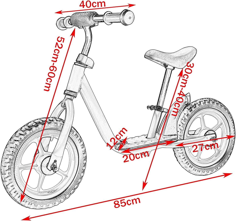 EUGAD Bicicleta sin Pedales para Niños 2~5 Años Sillín Regulabl Seguridad Ayude a los niños a ejercitar el Equilibrio y el Entrenamiento Mental Color Azul y Amarillo 0002PHC: Amazon.es: Juguetes y juegos