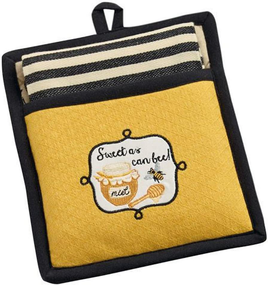 Design Imports India, Potholder Gift Set Sweet As Can Bee