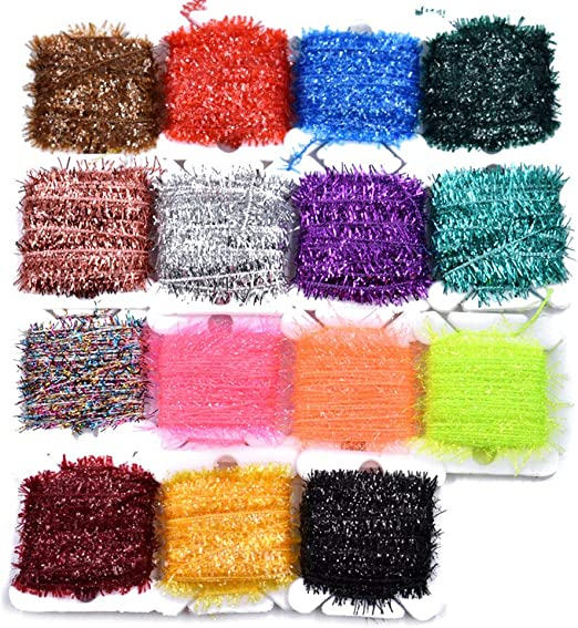 COTTON CANDY NEW AGE CRYSTAL CHENILLE Sz #2 Medium for FLY /& JIG TYING 5 Yd Pack