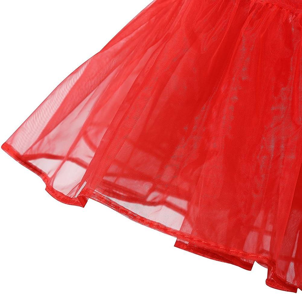HiQueen Women 50s Vintage Tutu Skirts Crinoline Half Slips