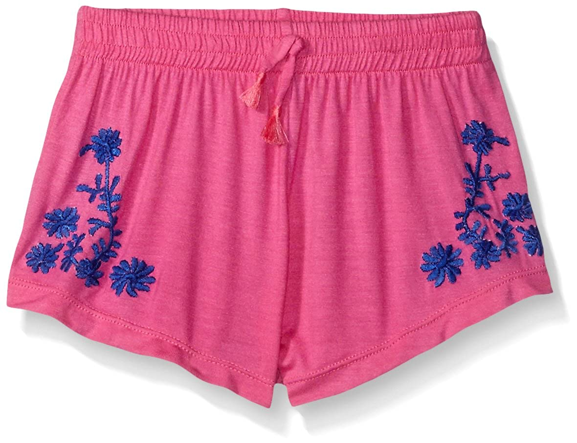 Flowers by Zoe Girls' Shorts with Floral Embroidery Flowers by Zoe Children' s Apparel ERS415BX