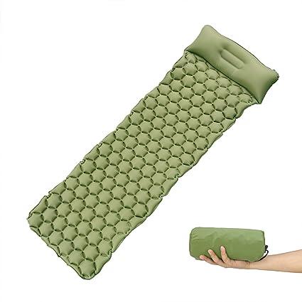 Colchoneta de Camping con Almohada inflable-Esterilla de Camping,FAMLOVE Durable, resistente a