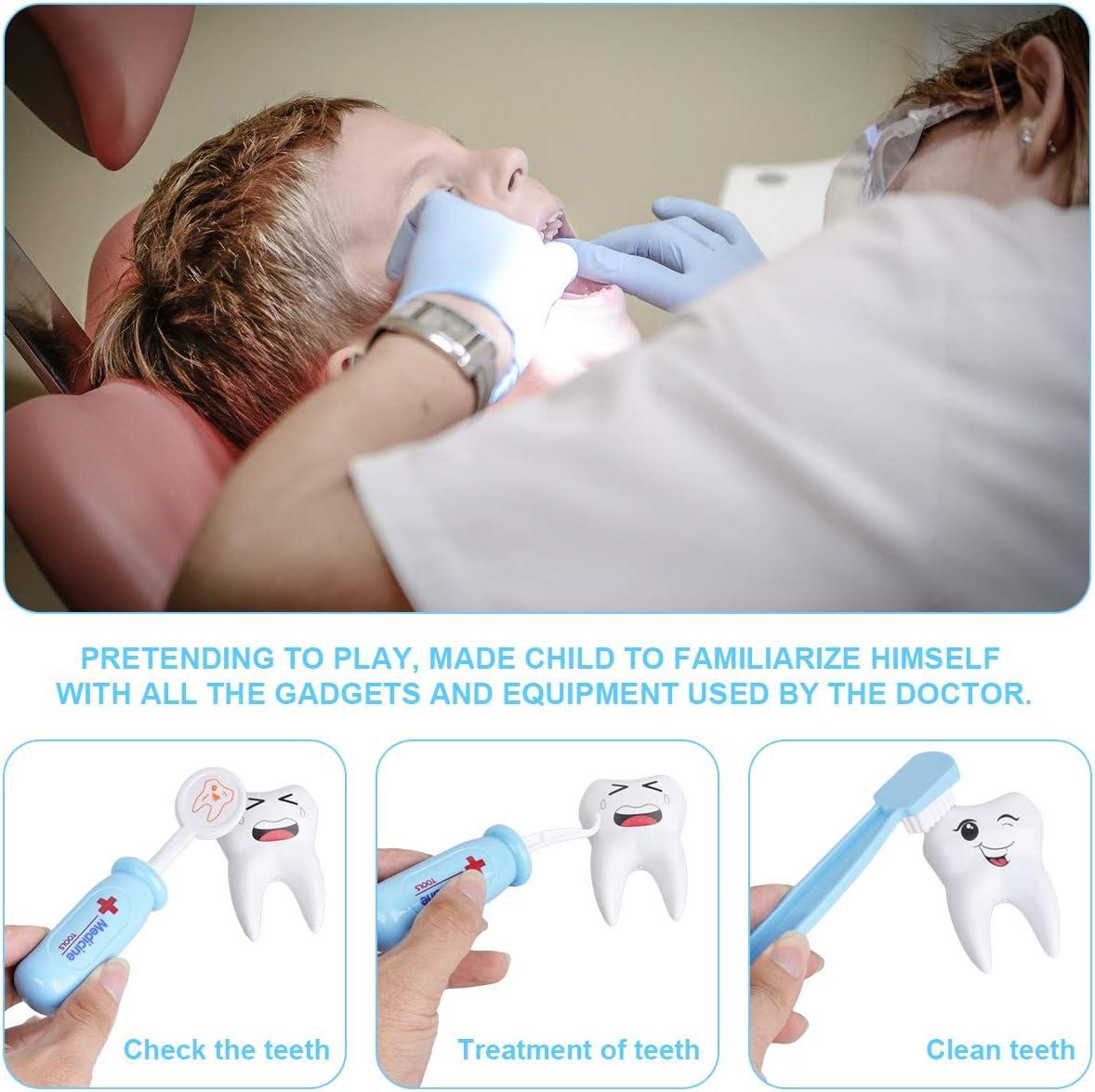 Artset voor kinderen, tandartsspraktijken, met licht en