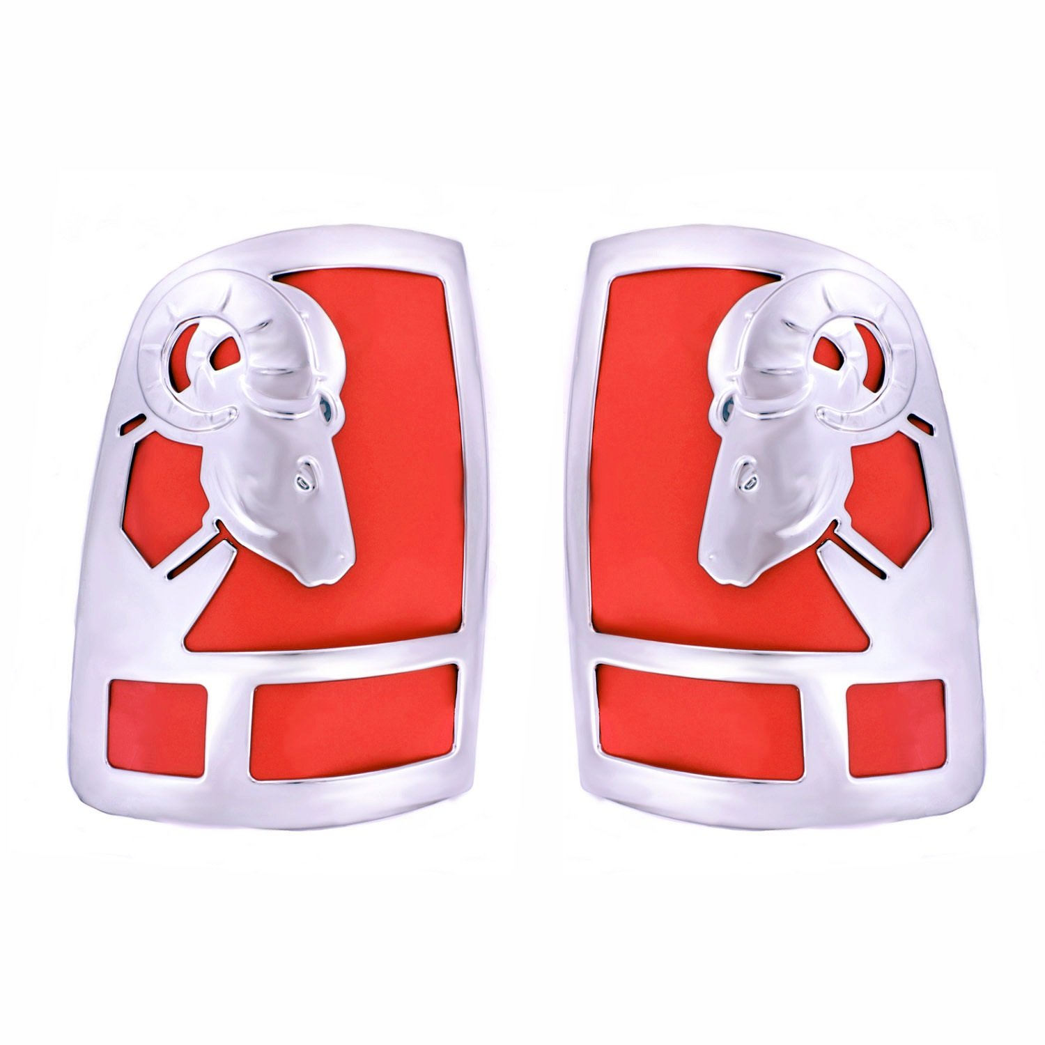 Big Horns Tail Light Covers For Dodge ~ Ram Pickup ~ 2009-2016  - Chrome ABS ~ 1500 Only, 2 PC Set WCS V27884C