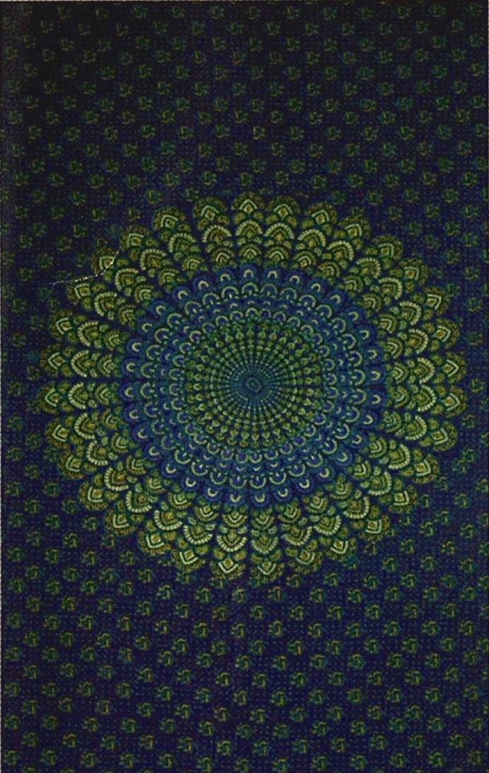 India Navy Blue Handloomed Cotton Mandala Peacock Bedspread Blanket Throw Tapestry 110''x 110'' (King Size) by Rajasthan Cottage (Image #6)