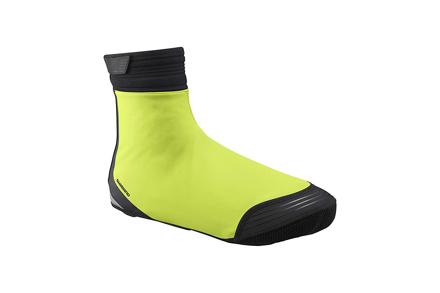 SHIMANO S1100X Soft Shell Shoe Cover, Neon Yellow, XL (Shoe Size 44-47)