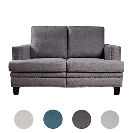 Marvelous Top Space Loveseat Couch Sofa Set Accent Arm Single Chair Modern Mid Century Grey Sofa Bed 2 Seat Living Room Furniture 1 Pc 2 Dark Grey Machost Co Dining Chair Design Ideas Machostcouk