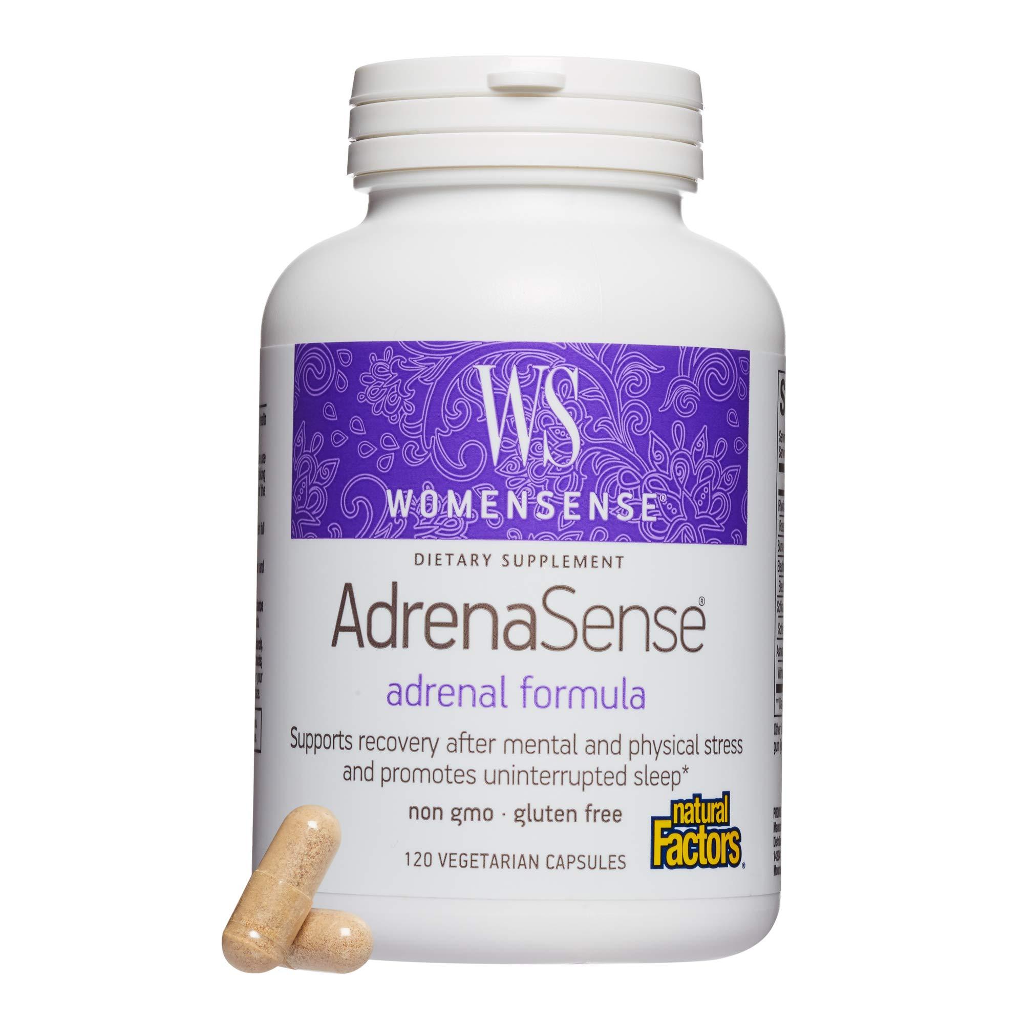 Natural Factors - WomenSense AdrenaSense, Anti-Stress Adrenal Formula, 120 Vegetarian Capsules