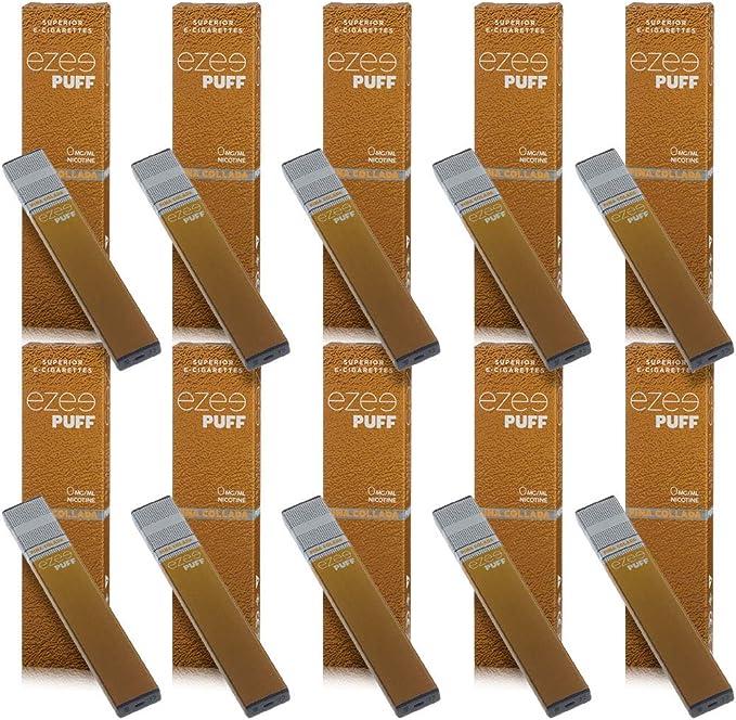 Ezee Puff Cigarrillo Electrónico Desechable sabor a Pina Colada e-liquido Sin Nicotina y sin Tabaco E-Cigarrillo para vapear 280 mAh Batería Paquete de 10: Amazon.es: Salud y cuidado personal
