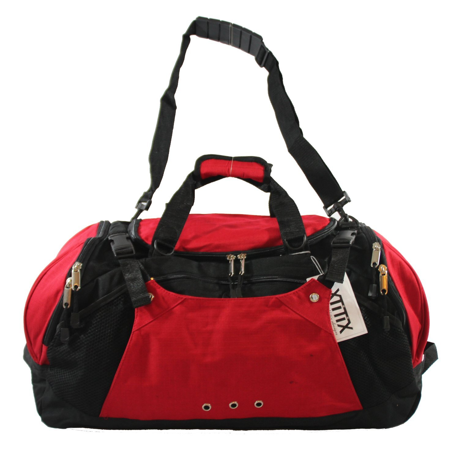 Xtitix Sport Gym Travel Deluxe Rip Stop Stylus Duffel Bag, 25'' L, Red by Xtitix (Image #1)