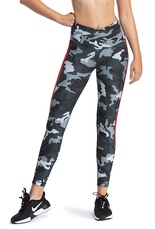 4a78e91b27a9a W.I.T.H.-Wear It To Heart with Women's Side Stripe Leggings Grey Heather  Camo