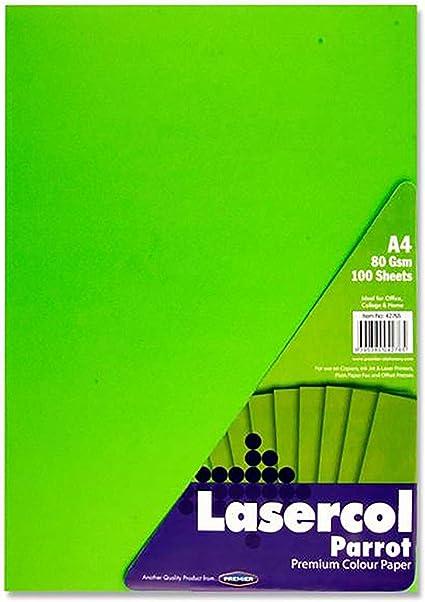Premier Artículos de papelería lasercol – Parrot Color Verde (Pack ...