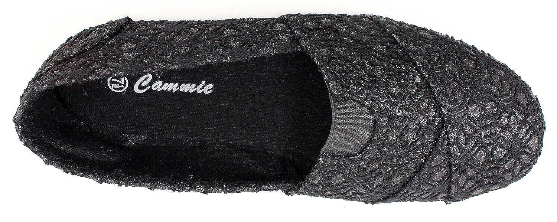 Cammie Womens Canvas Slip On Fashion Shoe Flats Espadrilles