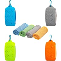 UCOOLA Cooling ICY Towel, Bigger Stronger Bamboo Instant Ice Cool Cold Towels, Large 30cm x 100cm, Soft Eco Friendly – Bonus Silicone Pod. Premium, Durable & Breathable, Perfect for All Sports.