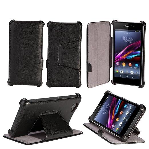2 opinioni per Nera Custodia Pelle Ultra Slim per Sony Xperia Z1 Compact (Z1 mini) smartphone-