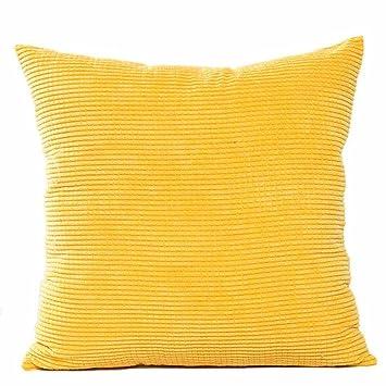 Amazon.com: Bokeley Funda de almohada, pana cuadrada, patrón ...