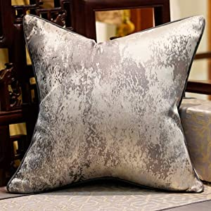 Avigers 20 x 20 Inches Chinese Style Grey Splash-Ink Cushion Cases Luxury Throw Pillow Covers Decorative Pillows for Couch Living Room Bedroom Car 50 x 50cm