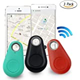 A3sprime Smart Key Finder Device with Bluetooth Locator, GPS Pet Tracker, Alarm Wireless Anti-Lost Sensor and Remote Selfie Shutter Seeker for Pets, Kids, Wallet, Keys, Cars (Random Colour)