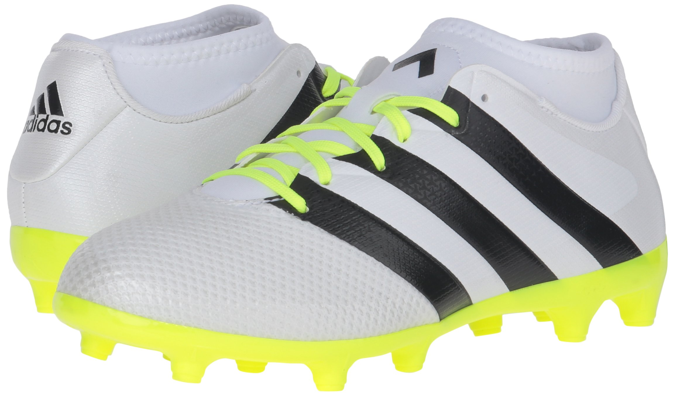 adidas Women's Ace 16.3 Primemesh FG/AG W Soccer Shoe, White/Black/Electricity, 9 M US by adidas (Image #6)
