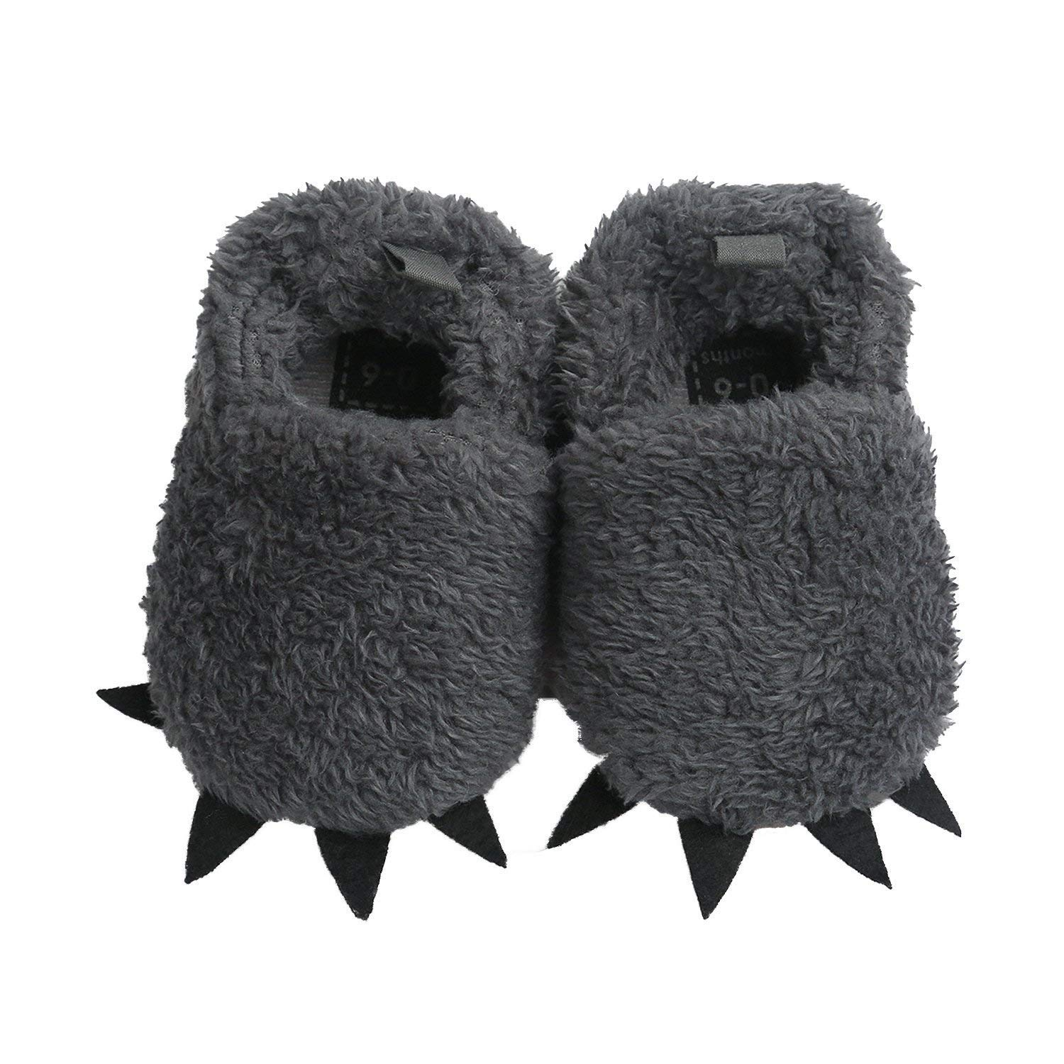 JoyfulBaby Boy Girl Winter Soft Sole Cute Animal Bear Paw Crib Shoes with Toddler Infant Slippers