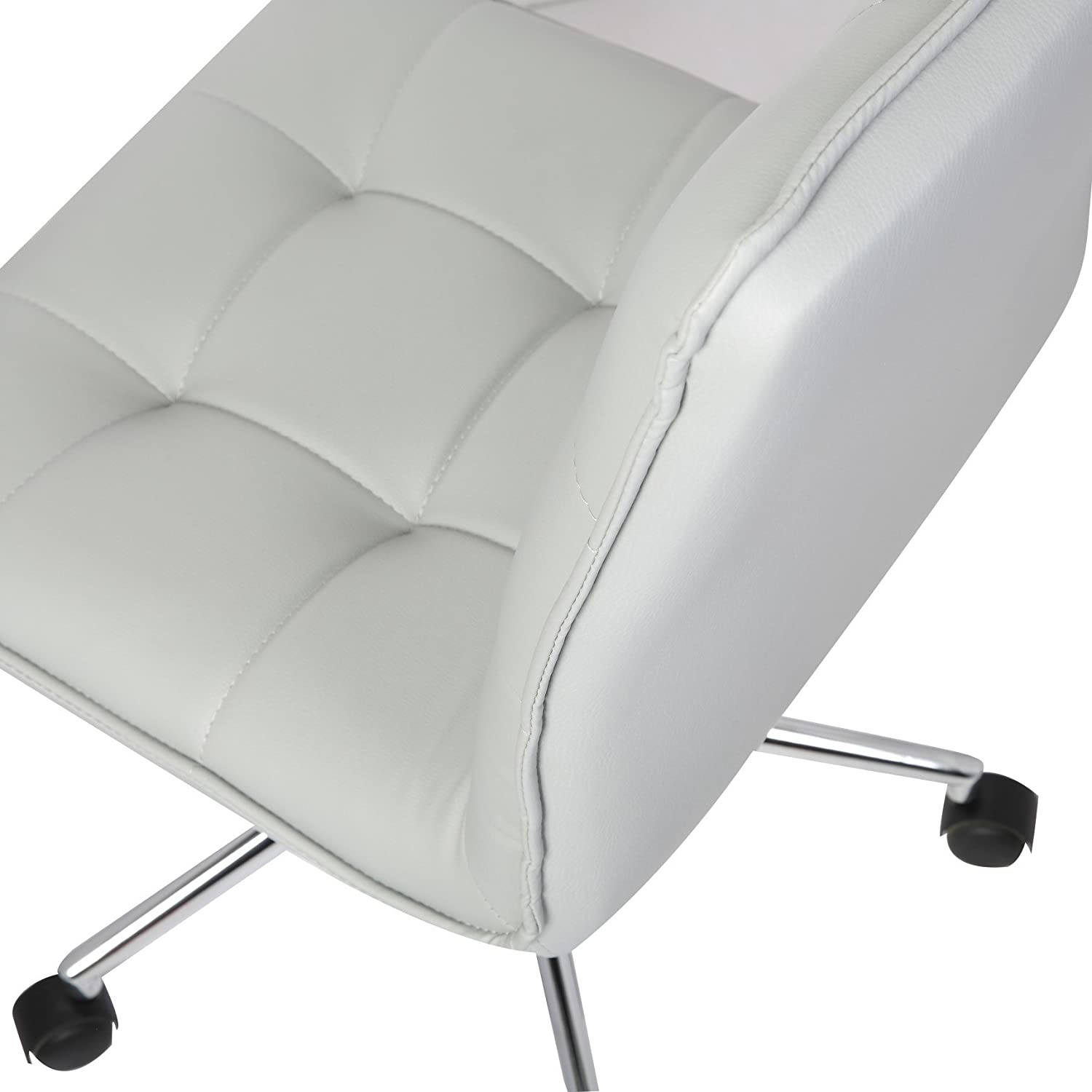Height Adjustable Easy Glide Caster Wheels Ultra-Thick Padding Size; 24 x 20 x 39 inch 360-degree Swivel Porthos Home Leona Office Chair Unique Luxury Home Office Chairs