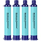 Membrane Solutions Straw Water Filter, Survival Filtration Portable Gear, Emergency Preparedness, Supply for Drinking Hiking