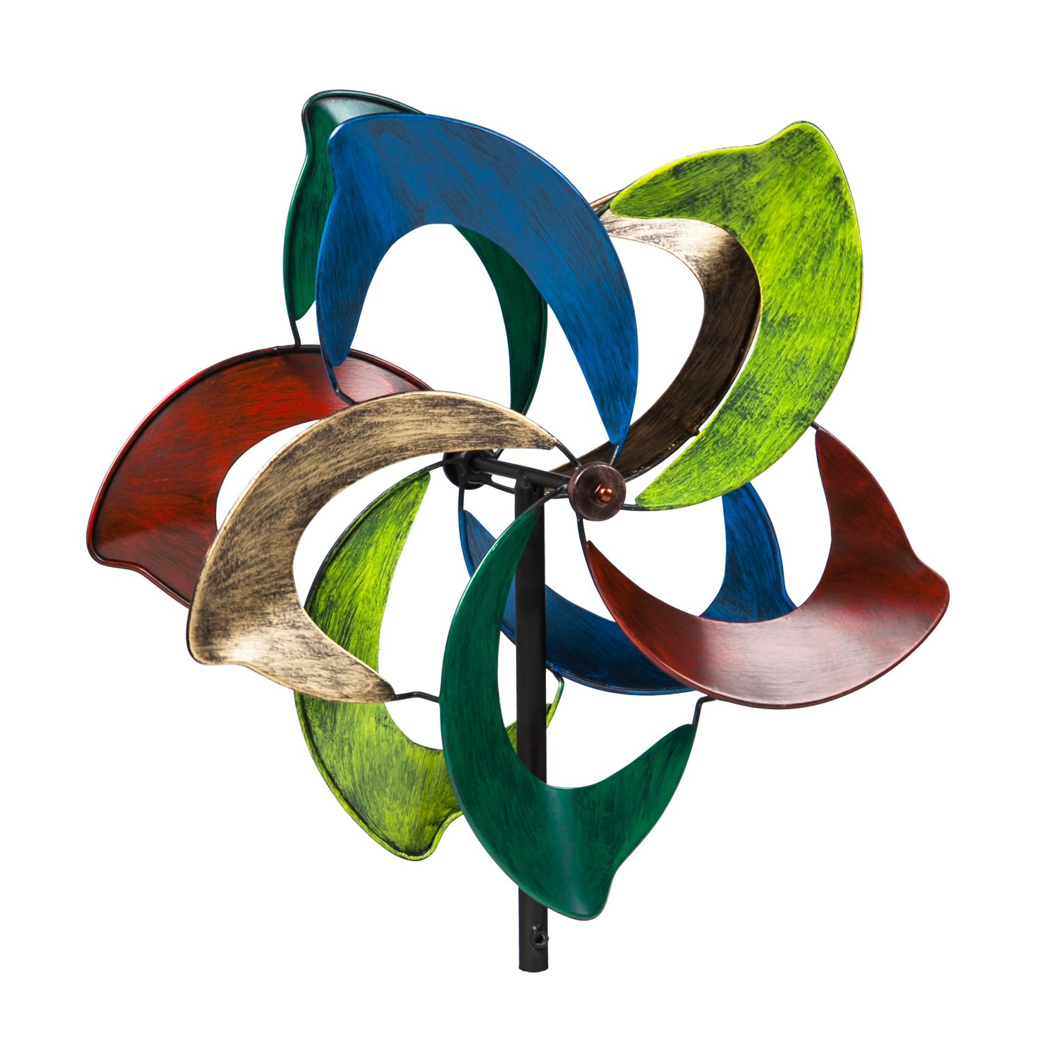 Evergreen Oasis Outdoor Safe Kinetic Wind Spinning Topper - Pole Sold Separately