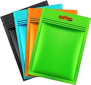 200 Pieces Mylar Zip Lock Bags Aluminum Foil Bags, Flat Metallic Mylar Foil Flat Food Storage Bags Pouch (Multicolor, 7 x 10 cm)
