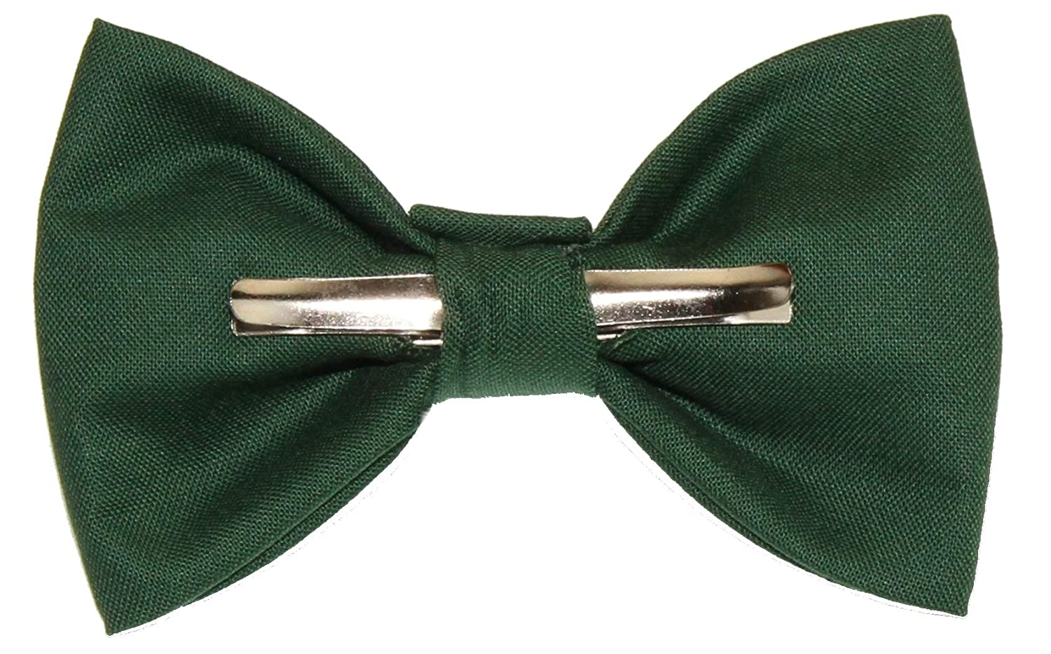 Boys Forest Green Clip On Cotton Bow Tie Bowtie amy2004marie