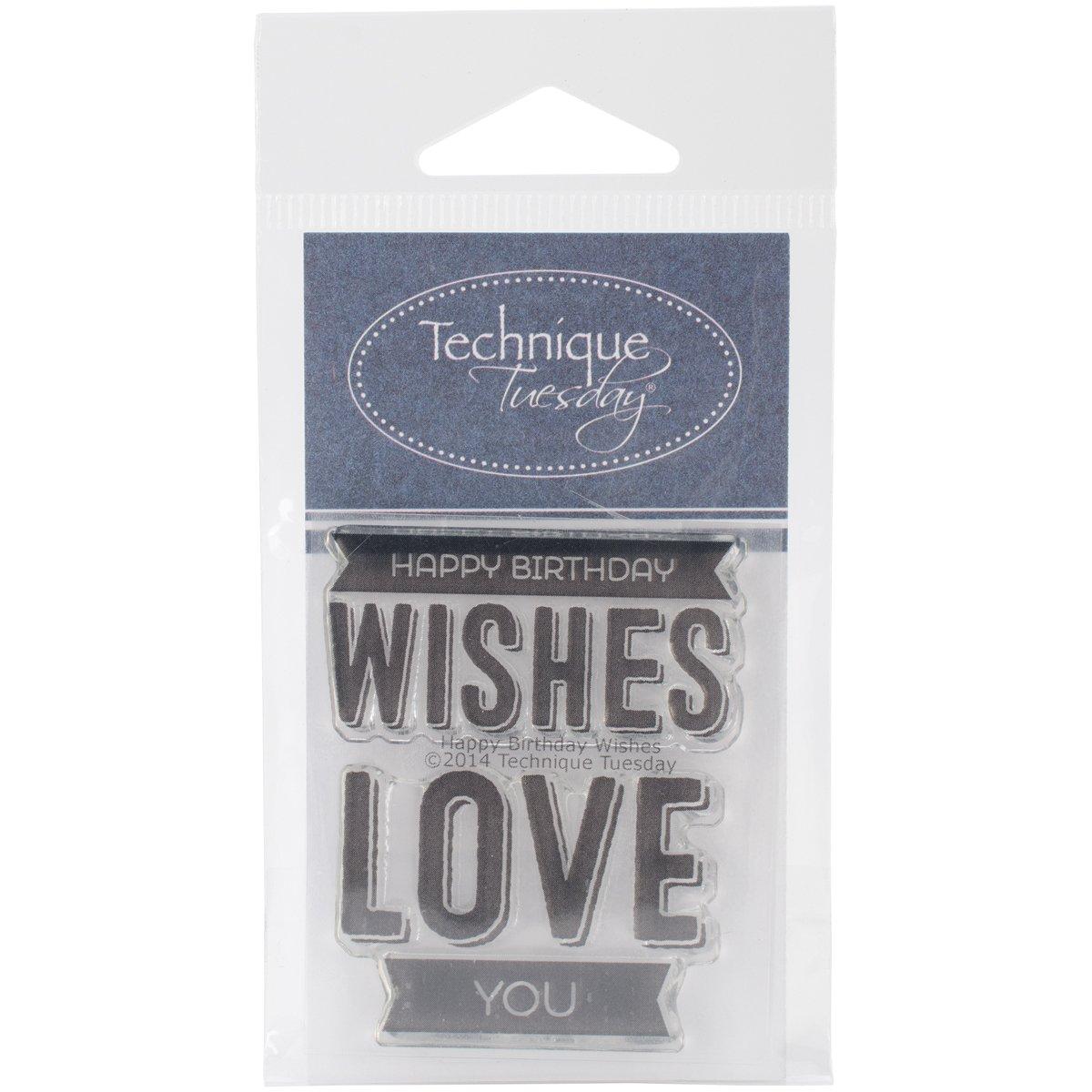 Unbekannt Technik Dienstag Happy Birthday Wishes Briefmarken, 5,1 cm von 6,3 cm klar B00OY1GBJ0 | Haltbarer Service  | Maßstab ist der Grundstein, Qualität ist Säulenbalken, Preis ist Leiter  | Ausgezeichnete Leistung