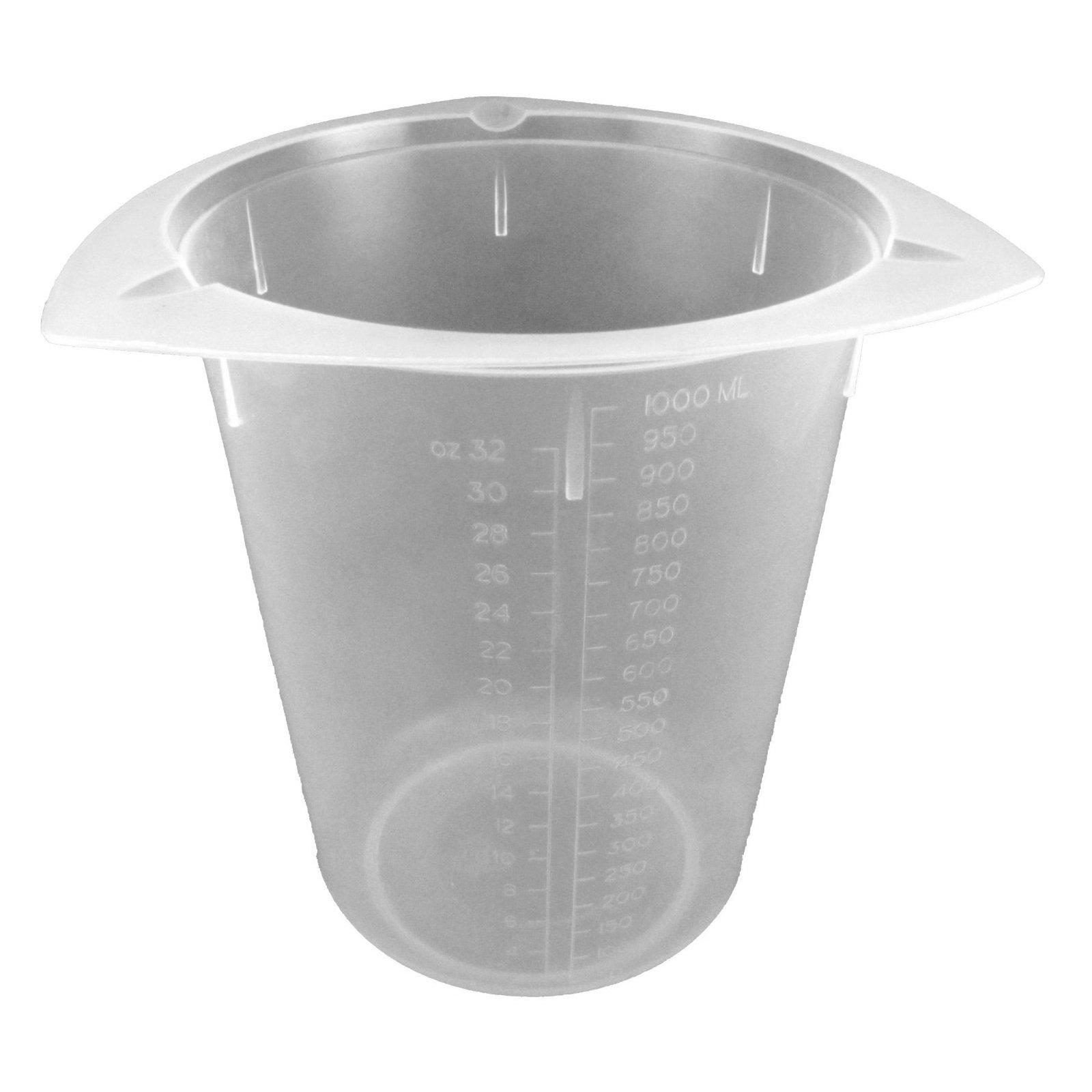 Dyn-A-Med 80098 Polypropylene Tri-Pour Disposable Beaker, 1000mL Capacity (Case of 100)