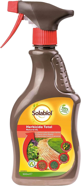Solabiol Natura AL-Herbicida Total de Origen 100% Orgánico con Spray Pulverizador, 500 ml Natural al