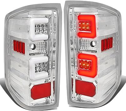 Red Chrome Error Free 3D Tube LED Taillamp NEW For 14-17 GMC Sierra 1500 2500