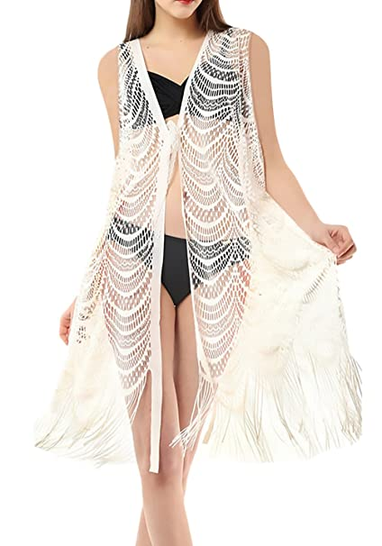 Bikini Cover Up Mujer Elegantes Cardigan Camisas Tops Tunica ...
