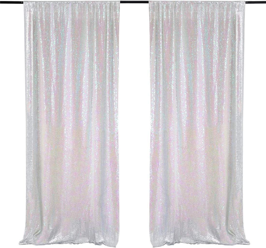 4FT x 7FT Iridescent Beautiful Sequin Backdrop Wedding Backdrop Curtain Festival