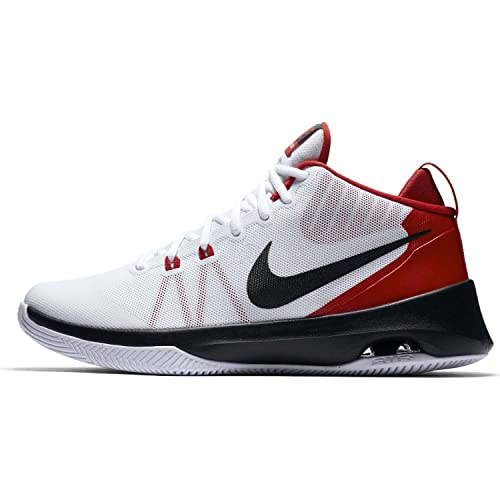 366c5901c52 Nike Air Versatile White Black University Red Men s Basketball Shoes ...