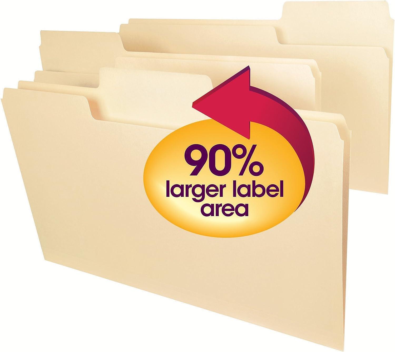 Smead SuperTab Heavyweight File Folder, Oversized 1/3-Cut Tab, Legal Size, Manila, 50 Per Box (15401) : Office Products